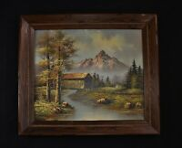 "Vintg ROY WOOD Signed Oil On Canvas Painting USA Landscape 25 1/2"" x 29 5/8"""