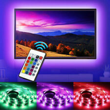 STRISCIA LED PER TV LCD 3MT 300 LED LUCE RGB 16 COLORI CON TELECOMANDO