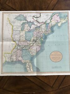 Wenzlick Reproduction - 1825 New Map of the United States by John Cary