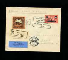 Switzerland 1926 Airmail Basel Muster Flight with engravers mark vignette RARE
