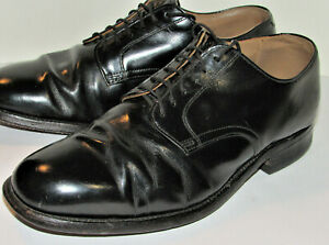VTG 1969 VIETNAM WAR US MILITARY BLACK LEATHER OXFORD SHOES! LEATHER SOLES! 8W