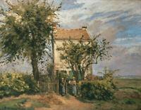 Camille Pissarro The Road To Rueil Fine Art Print on Canvas HQ Giclee Decor 8x10