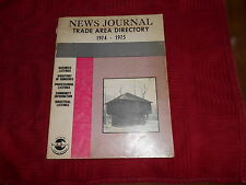 1974 - 1975 NEWS JOURNAL TRADE AREA DIRECTORY - MANSFIELD OH / AND AREA