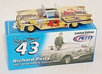RARE GOLD CHROME RC2 1/24 RICHARD PETTY #43 1957 OLDS CONVERTIBLE #2 OF ONLY 72