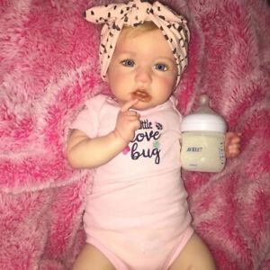 22'' Handmade Reborn Baby Dolls Full Vinyl Silicone Newborn Girl Toddler Babies