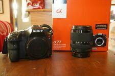 Sony Alpha SLT-A77 24.3MP Digital SLR Camera, lenses, batteries, grip + xtra