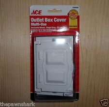 New Ace Multi-Use White Outdoor/Exterior Horizontal Outlet Box Cover (3266988)