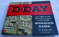 Vintage 1962 D-Day Strategy War Board Game Avalon Hill