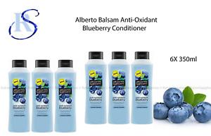 6X Alberto Balsam Anti-Oxidant - Blueberry Conditioner 350ml