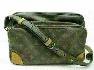Authentic LOUIS VUITTON Monogram Nile M45244 Shoulder Bag PVC Leather 85875