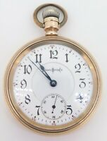 .1897 Illinois Bunn Special 24 Jewel 18s 14K Gold OF Railroad Pocket Watch