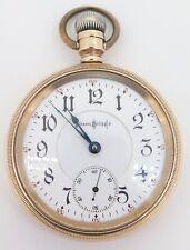 .1897 Illinois Bunn Special 24 Jewel 18s 14K Gold OF Railroad Pocket Watch