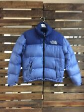 Women's BLUE North Face NUPTSE XS 700 Down Puffer Jacket Great Condition