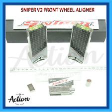 GO KART SNIPER TWIN LASER KIT V2 INOX FRONT WHEEL & SA INOX SPROCKET ALIGNER