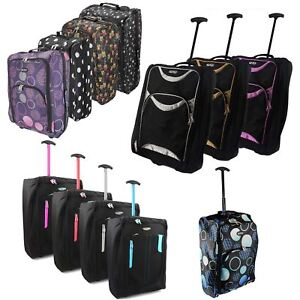 HAND LUGGAGE TROLLEY SMALL TRAVEL CABIN BAG CARRY-ON SUITCASE HOLDALL
