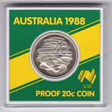 1988 Australia 20 Twenty Cent PROOF Coin in small case for Bicentenary
