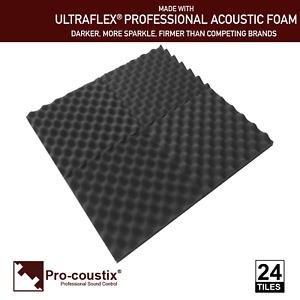 Pro-coustix  Ultraflex Wave High Quality Acoustic foam tiles 24 panels Egg box