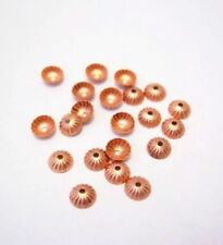 5 mm Solid Copper Bead Cap ( Hole 0.90 MM ) Pkg. Of 50 / Made in USA #CP5MBC