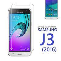 Pellicola Vetro Temperato per Samsung Galaxy J3 2016 Proteggi Schermo