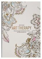 Large Adult Relaxing Art Therapy Colouring Book Anti-Stress Art 120 Designs New