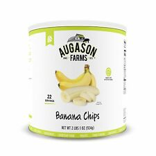 Augason Farms Dried Banana Chips 2 lbs 1 oz No. 10 Can Food Storage