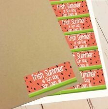 ADDRESS PERSONALISED LABELS Adhesive Botique Round Corner Watermelon Seed Qty 90