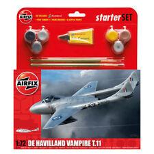 AIRFIX a55204 de havilland vampire T11 starter set 1/72 ème 04899 Revell avion modèle kit
