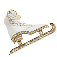 Brooch 3d White Clothing Accessories Women Christmas Ice Skates Skating Pin