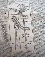 BRIDGEPORT ALABAMA Civil War Map & Fall of New Orleans Account 1862 Newspaper