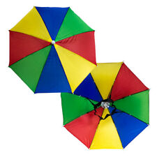 UK Foldable Sun Rain Umbrella Hat Novelty Rainbow Panel Brolly Clown Gay Pride