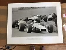 New listing Two Glossy Vintage B/W Photo Prints 41cm X 30cm Graham Hill & Jim Clark