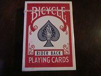"VINTAGE BICYCLE""RIDER BACK"" PLAYING CARDS, POKER, SEALED"
