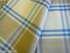 69cm designer cotton check upholstery curtain fabric Brown blue beige cloth