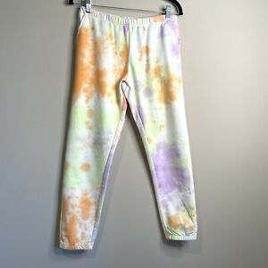 WILDFOX Sherbet Wash Rory Pants With Pockets Pastel Tie Dye Jogger Size Small