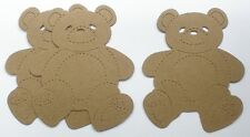 {4} TEDDY BEAR - Bare Unfinished Chipboard Die Cuts Embellishments - 4""