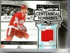 STEVE YZERMAN 2017-18 Artifacts Centennial Remnants JERSEY Detroit Red Wings *