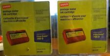 2 Staples E700 Postage Meter Ink Cartridge for Pitney Bowes E700 and G700 Series