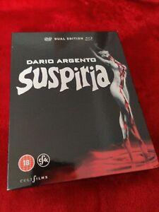 SUSPIRIA (DARIO ARGENTO) BLU RAY & DVD COMBI (4K RESTORATION) SLIPCOVER (MINT)