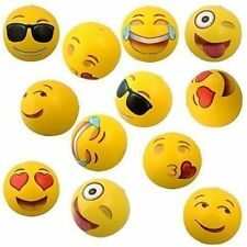 """Pack of 12 Emoji Face Beach Ball, Inflatable, Water Play Pool & beach party, 12"""""""