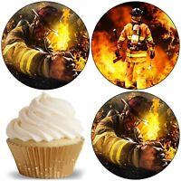 Feuerwehr-mann Auto Eßbar Tortenaufleger Party Deko Muffinaufleger Cupcake neu