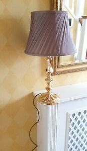 Beautiful Elegant Styled Table Top Lampshade With Gold Colour Stand (Works)