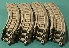 "LOT OF 12 Thomas the Train Trackmaster Tan Replacement 7.5"" Curved Track"