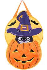 """Witchy Cat Halloween Door Hanger 13.25"""" x 20"""""""