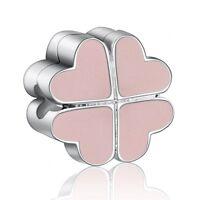 Pop Zirocn Heart Jewelry Diy Bead Charms Fit European 925 Silver Bracelets Chain