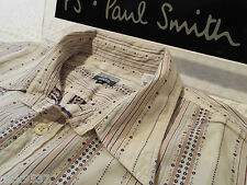 "PAUL SMITH Mens Shirt  🌍 Size XL (CHEST 44"") 🌎 RRP £95+ 🌏 PATTERNED STRIPES"