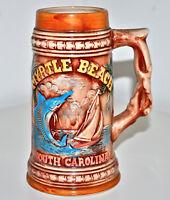 VTG 60s Myrtle Beach South Carolina Ceramic Tiki Beer Stein Mug Scotty MCM Japan