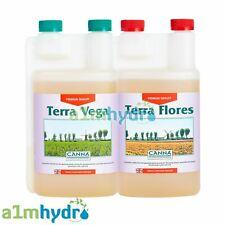 Canna Terra Vega And Terra Flores 1 Litre Set Nutrients Hydroponics