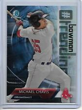 2018 Bowman Michael Chavis Chrome Bowman Trending Insert Card