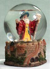 11cm Water Ball Wizard in Red Cloak Staff Skull Miniature Figurine **LAST ONE**