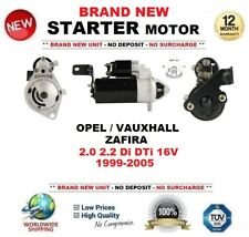 Para Opel Vauxhall Zafira 2.0 2.2 DI DTI 16 V 1999-2005 motor de arranque 2.0 kW 10 T